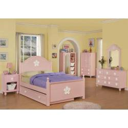 00735T-4PC 4PC SETS FLORESVILLE TWIN BED