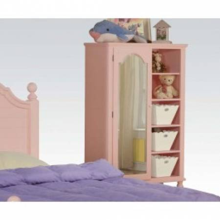00742 PINK W/WH FLOWER DOOR CHEST