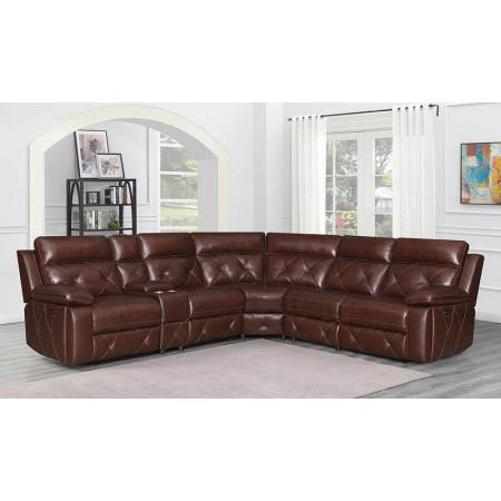 Chester 6-Piece Modular Power^2 Sectional Chocolate 603440PP