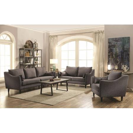 Rhys Modern Charcoal Two-Piece Living Room Set 506111-S2