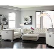 Chaviano Contemporary White Three-Piece Living Room Set (SOFA + LOVE+ CHAIR) 505391-S3