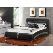 Havering Contemporary Black And White Upholstered Eastern King BEDROOM 4PC SET (KE.BED,NS,DR,MR) 300350KE-S4