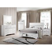 Miranda Queen Panel Storage Bed 4 Piece Set (Q.BED,NS,DR,MR) 205111Q-S4