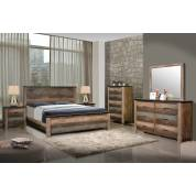 Sembene Bedroom Rustic Antique Multi-Color California King Bed Four-Piece Set 205091KW-S4