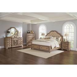 Ilana 4 Piece King Storage Bedroom Collection (KE.BED+NS+DR+MR+CH) 205070KE-S5D