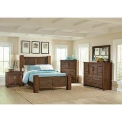 Sutter Creek Rustic Vintage Bourbon California King Five-Piece Set 204531KW-S5