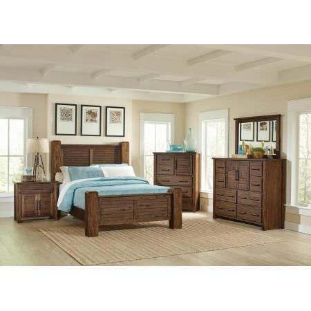 Sutter Creek Rustic Vintage Bourbon Eastern King Four-Piece Set 204531KE-S4
