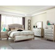 Bling Game Queen Upholstered Bed 4 Piece Set (Q.BED,NS,DR,MR) 204181Q-S4
