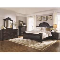 Cambridge 4 Piece King Bedroom Collection (KE.BED,NS,DR,MR) 203191KE-S4