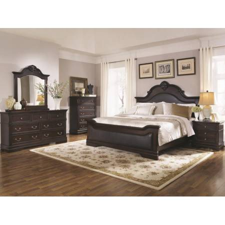 Cambridge Queen Upholstered Bed 5 Piece Set (Q.BED,NS,DR,MR,CH) 203191Q-S5