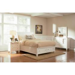 Sandy Beach 5 Piece King Bedroom Collection (KE.BED,NS,DR,MR,CH) 201309KE-S5