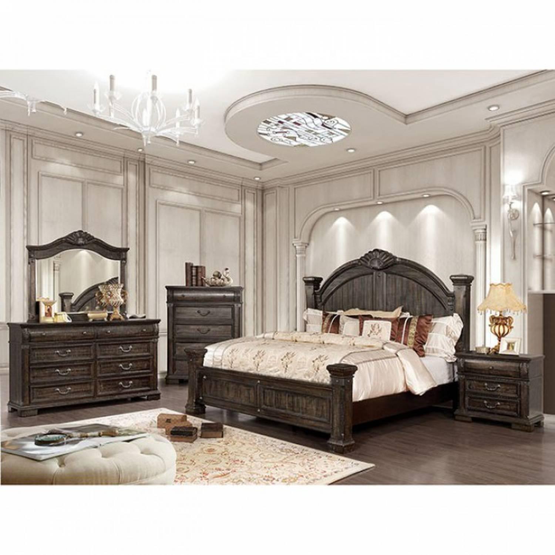 Acme Dining Room Furniture Genevieve Cal King Bedroom Set Cm7428kw Gr