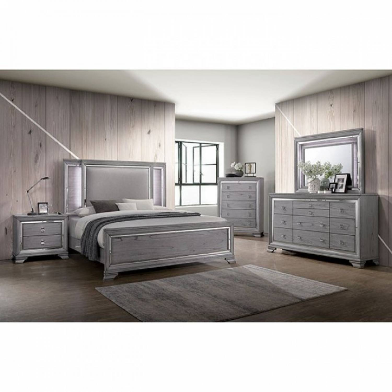 Image of: Alanis Cal King Bedroom Set Cm7579kw Gr