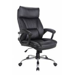 BLACK PU OFFICE CHAIR 92172