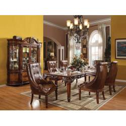 60075+60077*6 7P SETS DINING TABLE + 6 SIDE CHAIRS