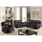 52285+52286+52287 3PC SETS BLACK MOTION SOFA + LOVESEAT + RECLINER