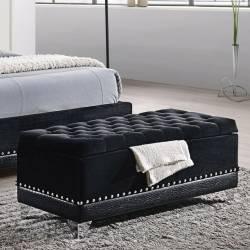 Barzini Glamorous Upholstered Bench Trunk 300644