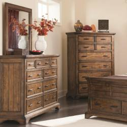 Elk Grove Dresser and Mirror Set with 9 Drawers
