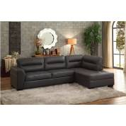 9924GRY Terza 2PC SET: SECTIONAL