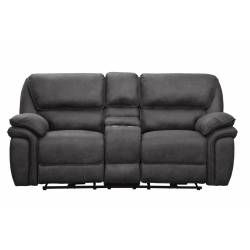 9903GY Hadden POWER Double Reclining Love Seat with Center Console