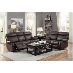 8326BRW Pendu Double Reclining Sofa