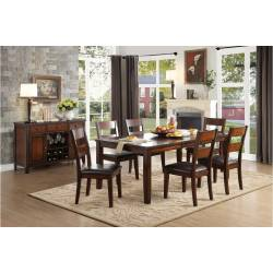 5547-78 Mantello 5PC SETS Dining Table + 4 Side Chairs