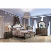 ARIADNE 4PC SETS QUEEN BED Rustic Natural Tone