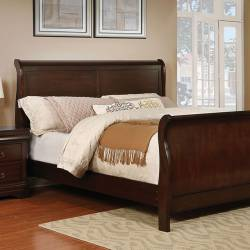 EUGENIA CAL.KING BED Brown cherry finish