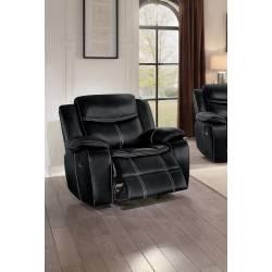 BASTROP Glider Reclining Chair Black