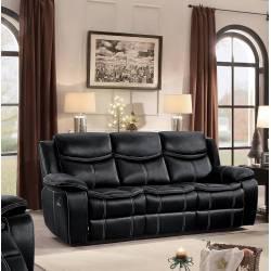 BASTROP Double Reclining Sofa Black