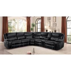 BASTROP Sofa Group 3 Pc set Black
