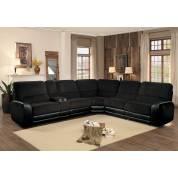 YNEZ Left Side Sectional Sofa Group 6 Pc Set Chocolate
