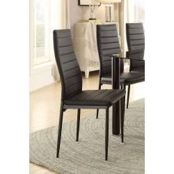 FLORIAN Side Chair, Black Bi-Cast Vinyl Black