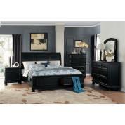 LAURELIN Group 4 Pc Bedroom set Black