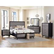 RAKU Group 4 Pc Bedroom set Grey