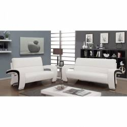 WEZEN 2PC SETS SOFA + LOVE SEAT White