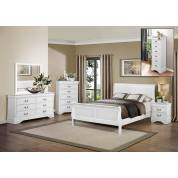 Mayville Bedroom 4 Pc Set - White (QB+NS+DR+MR)