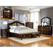 Homelegance Marston Bedroom Set 5PC - Dark Cherry 2615DC-1*5