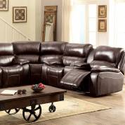 RUTH SECTIONAL Brown Finish