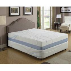 "CHARCOGEL California King 12"" Gel and Charcoal Infused Memory Foam Mattress"