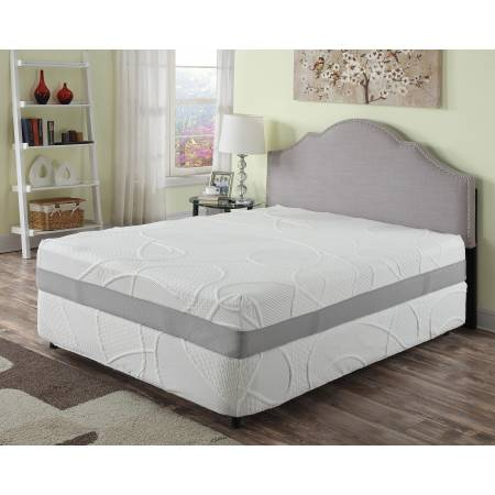 "HERBACOAL Queen 12"" Green Tea and Charcoal Infused Memory Foam Mattress"