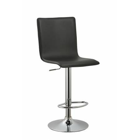 ACBS10 BLACK ADJUSTABLE SWIVEL BARSTOOL SET OF 2