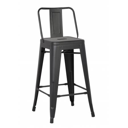 ACBS02 30 INCH BLACK STEEL STOOL SET OF 2