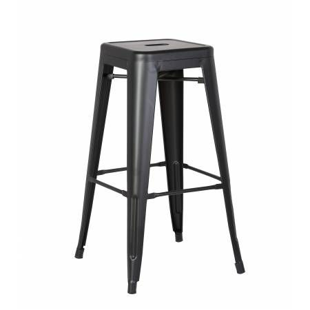 ACBS01 30 INCH BLACK STEEL STOOL SET OF 2