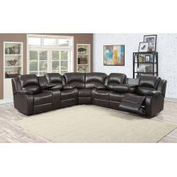 SAMARA DARK BOWN RECLINING SOFA SET