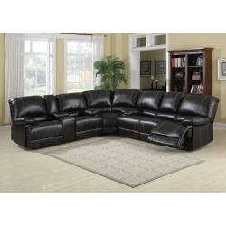 KEVIN COCOA FAUX LEATHER RECLINING LOVESEAT