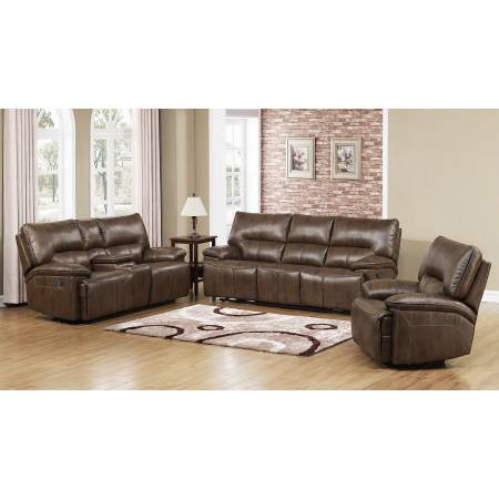 DWAYNE CHOCOLATE 2 PCS RECLINING SOFA AND LOVESEAT