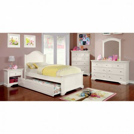 MULLAN 4 Pc. Set (TWIN BED +  1NS + DRESSER + MIRROR)
