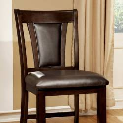 BRENT II COUNTER HT. CHAIR IN DARK CHERRY & BROWN (2/BOX)