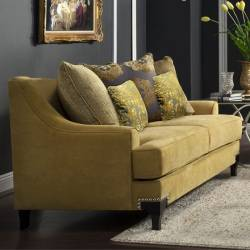 VISCONTTI Love Seat Traditional Gold